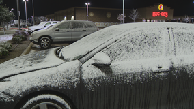 Second rounds of snow falls in parts of North Texas overnight