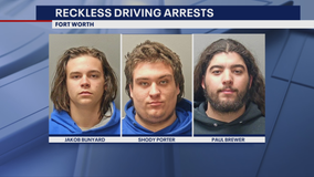 3 arrested after reckless driving forces police to temporarily shut down I-35 in Fort Worth