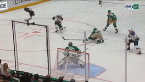 Blues chase Bishop early, rout Stars 5-1 in West showdown