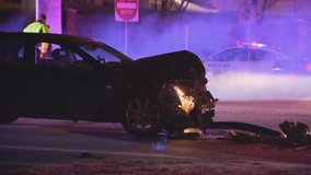 1 critically injured, 3 arrested following Dallas crash and police chase