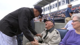 Rain didn't dampen day at ballpark for WWII vet honored by Yankees