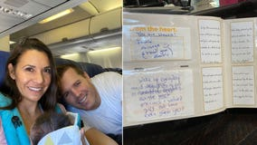 California couple who just adopted newborn girl showered with love on Southwest flight