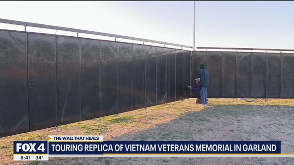 Wall That Heals on display in Garland