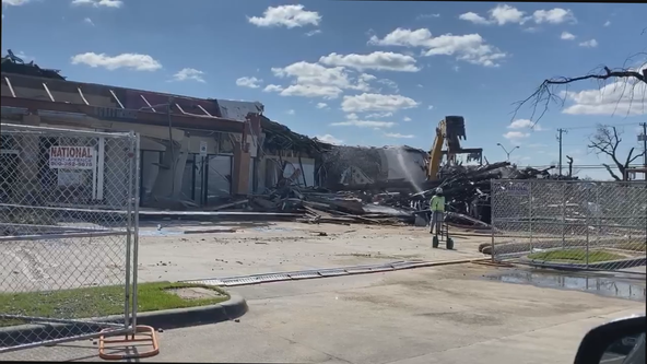 Demolition begins on North Dallas shopping center heavily damaged by tornado