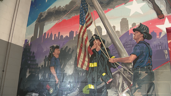 New 9/11 mural, ground zero steel installed at Plano fire station