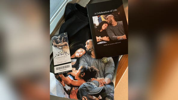 Kobe and Gianna: Fans get commemorative T-shirts, pins and photo-filled program at memorial