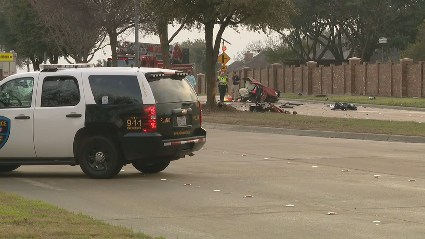 Three people dead in single-vehicle car wreck in Plano