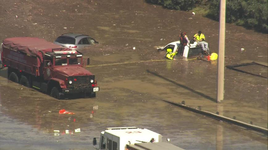 Water rescues underway after 96-inch water main break floods east Houston