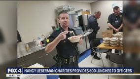 Nancy Lieberman Charities provides 500 lunches to officers