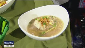 Asian Rice Soup with Chicken