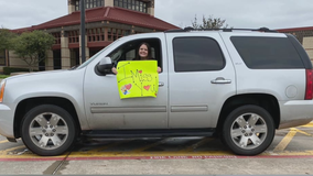 North Texas teachers still connecting with their students with car parades