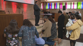 North Dallas church reopens in borrowed space after tornado