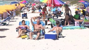 Beaches packed before county's closure goes into effect midnight Saturday