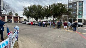 Long lines for Democrats at some Dallas, Tarrant polling places on Super Tuesday