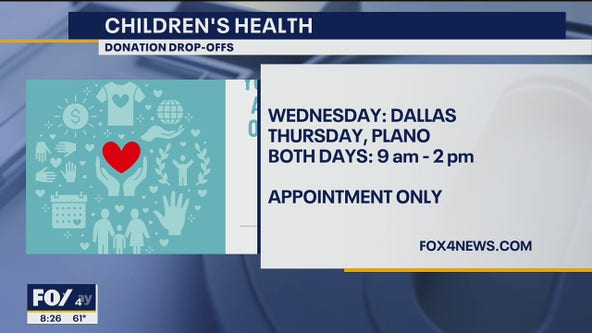 Children's Health schedules PPE gear donation drop-off events