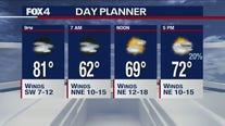 April 8 overnight forecast