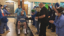 North Texas couple shares their story of dealing with COVID-19, as hospital staff gives special send off