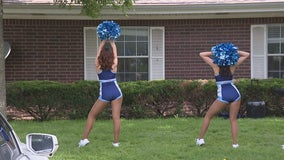 Frisco Fighters Bombshells perform for residents at senior care center