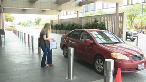 Few vehicles at North Texas malls on first day of retail-to-go