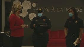 Dallas salon opens for business despite COVID-19 stay-at-home order