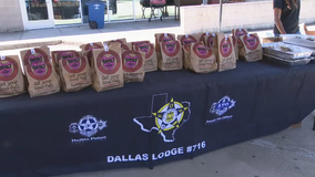 Donation by former Ranger Derek Holland helps feed Dallas PD officers