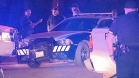 Dallas police searching for driver who struck police car, then fled in another vehicle