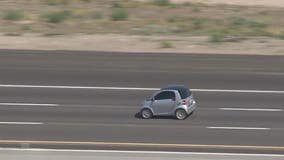 Smart car driver arrested after leading police on pursuit along I-10 in Phoenix area