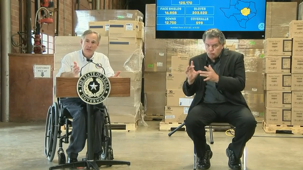 Gov. Greg Abbott 'confident' about supply numbers for Texas healthcare workers, first responders