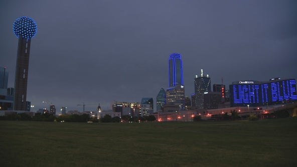 North Texans 'Light It Blue' to show support for essential workers