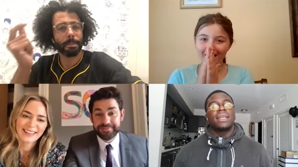 Lin-Manuel Miranda and 'Hamilton' cast surprise girl with remote performance on John Krasinski's YouTube show