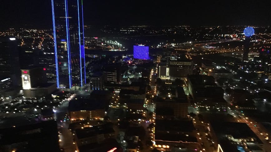 Dallas skyline will light up blue Thursday to honor essential workers during coronavirus pandemic