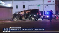 3 killed in West Dallas crash caused by suspected drunk driver