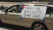 Rally held in Dallas to push for an expansion to mail-in voting during COVID-19 pandemic