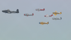 Historic warplanes fly over North Texas for Memorial Day