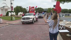 Dallas Baptist University holds drive-thru graduation ceremony
