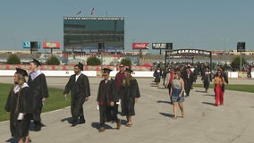 Texas Motor Speedway holds first graduation ceremonies for Denton County high schools