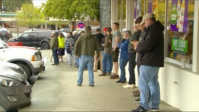 Line stretches out the door at Washington barbershop operating outside of stay-at-home order