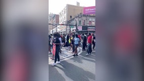 Protesters dance together to 'Cupid Shuffle' during peaceful NJ demonstrations