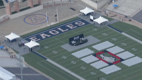 Multiple stages allowed Allen High School students to get semi-traditional graduation ceremony