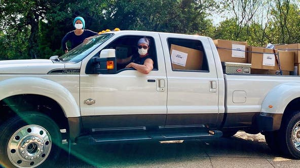 Matthew McConaughey, Camila hit the road to deliver masks to rural hospitals in Texas