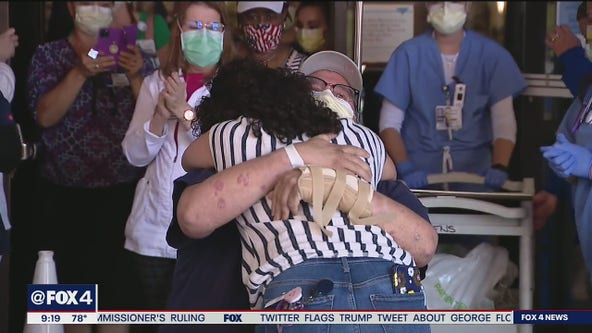COVID-19 patient released after spending 44 days in a Fort Worth hospital