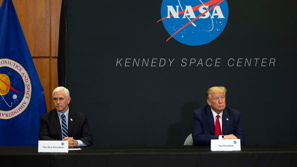 Trump's plan to celebrate space launch hits weather snag