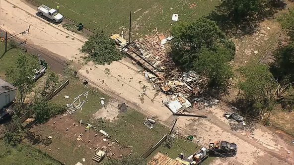 Cleanup continues in Bowie after EF-1 tornado