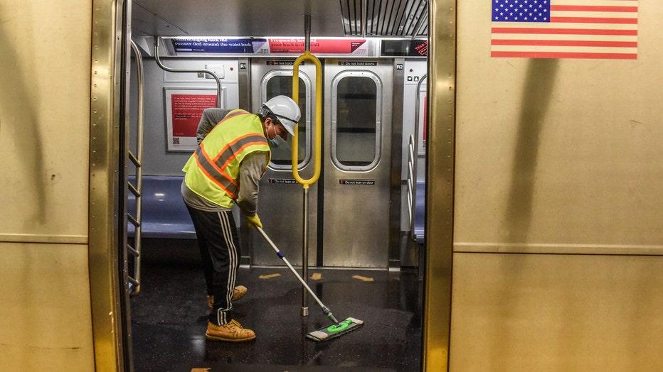 New York City Disinfects Subway Stations To Combat Coronavirus Pandemic