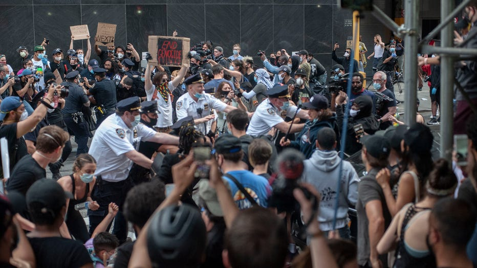 New York protests against police brutality over George Floyd's death