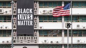 Black Lives Matter banner removed at US Embassy in Seoul