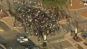 After night of vandalism and looting, peaceful protest held in Arlington Tuesday