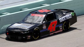NASCAR driver races in 'Back the Blue' car in support of law enforcement