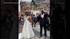 Philadelphia-area couple gets married during peaceful protests, goes viral as footage emerges