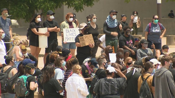 Protesters in Dallas urged to take health precautions during COVID-19 pandemic